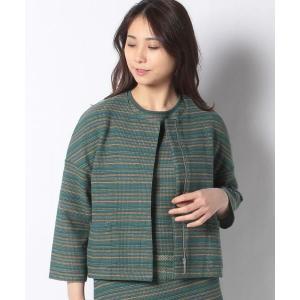 LAPINE BLANCHE / ラピーヌ ブランシュ 12G インレイ編みニットジャケット|タカシマヤファッションスクエア