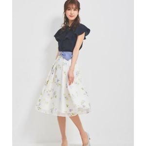 LAISSE PASSE / レッセパッセ ベルト付きオパールフラワースカート|タカシマヤファッションスクエア