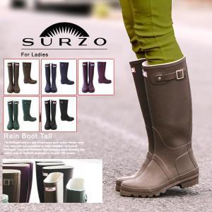 長靴 SURZO レインブーツ レディース長靴 ETSR-5005 ロング/トール レインシューズ|selene