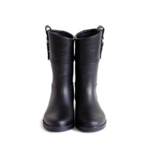 長靴 SURZO レインブーツ レディース長靴 ショート切り替え縦ベルト ETSR-5032|selene