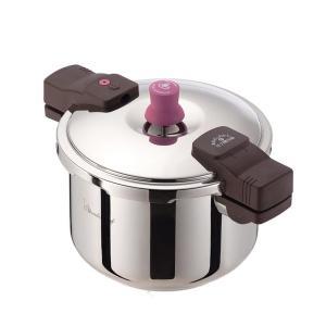 初めてでも使いやすい、シンプルなデザインの圧力鍋。140kPaの超高圧で調理時間を短縮できます! 製...