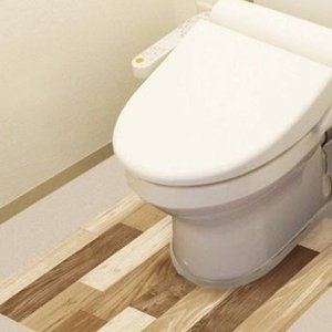 防水模様替えシート トイレ床用 90cm×80cm LBr(ライトブラウン) BKTY-9080|seles-eshop