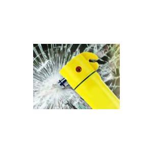 自動車運転中の事故や災害対策。緊急脱出。多機能レスキューハンマー 懐中電灯付き|self-shop
