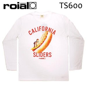 ROIAL・ロイアル/17FA/ L/S TEE,長袖Tシャツ/RICHARD・TS600/WHITE・ホワイト/M・Lサイズ|selfishsurf