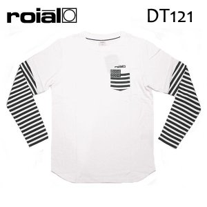 ROIAL・ロイアル/17FA/ L/S TEE,長袖Tシャツ/ALEX・DT121/WHITE・ホワイト/M・Lサイズ/フェイクレイヤード/ボーダー|selfishsurf