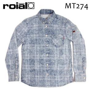 ROIAL・ロイアル/17FA/TOPS・SHIRTS/デニムシャツ,長袖シャツ/LAURENCE・MT274/LIGHT WASH・ライトインディゴ/M・Lサイズ|selfishsurf