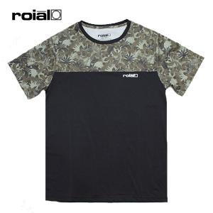 ROIAL・ロイアル/19SP/半袖Tシャツ・水陸両用ハイブリッドTシャツ/PHILADELPHUS・R901MHT01/BLACK・ブラック/メンズ/UPF50/クイックドライ/カモ柄|selfishsurf