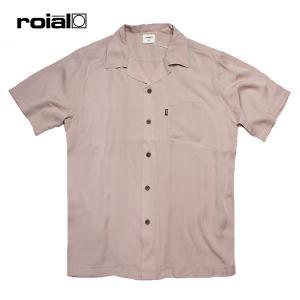 ROIAL・ロイアル/19SP/半袖開襟シャツ/CAMELLIA・R901MMT01/GRAYGE・グレージュ/メンズ/無地/シンプル|selfishsurf