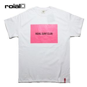 ROIAL,ロイアル/19SU/S/S TEE,半袖Tシャツ/MUHLIFAIN・R902MST08/WHITE・ホワイト×ネオンピンク/メンズ/サーフ/カジュアル/ロゴ/蛍光/ネオンカラー|selfishsurf