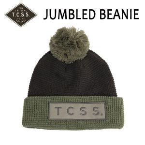 TCSS,ティーシーエスエス/2015年FALL/ビーニー・ニット帽・ニットキャップ/JUMBLED BEANIE・SAHW15-14/BELUGA,ブラック/フリーサイズ|selfishsurf