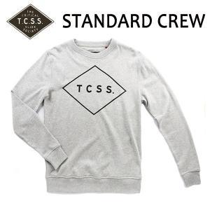 TCSS,ティーシーエスエス/2015年FALL/CREW NECK FLEECE,クルーネックスエット/STANDARD CREW・SAFL15-01/GREY MARLE/S・M(日本サイズM・L)サイズ|selfishsurf