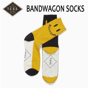 TCSS,ティーシーエスエス/BANDWAGON SOCK・SAA1703/YELLOW・イエロー/25〜28cm/ニコちゃん|selfishsurf