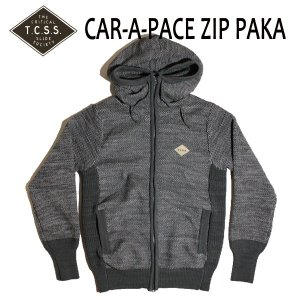 TCSS,ティーシーエスエス/17FA/セットアップパーカー・ZIP PARKA・ジップパーカー/CAR-A-PACE ZIP PAKA・EKZ1702/GREY MARLE・グレー/S・Mサイズ/ポリニット|selfishsurf