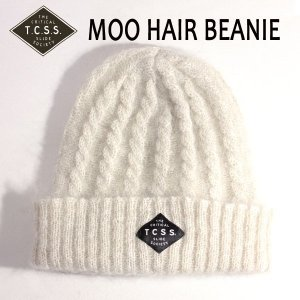 TCSS,ティーシーエスエス/17FA/ビーニー・ニット帽・ニットキャップ/MOO HAIR BEANIE・WBE1707/BLANC・ホワイト/フリーサイズ/ユニセックス/モヘア|selfishsurf