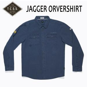 TCSS,ティーシーエスエス/17FA/ L/S SHIRTS JAKET,長袖シャツジャケット/JAGGER ORVERSHIRT・SAS1710/COBALT・ブルー/S・Mサイズ/メンズ/ニコちゃん|selfishsurf