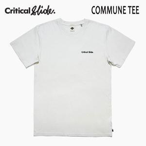 TCSS,ティーシーエスエス,Critical Slide/19SP/半袖Tシャツ/COMMUNE TEE・TE18126/DIRTY WHITE・オフホワイト/メンズ/ロゴ/サーフ/シンプル|selfishsurf