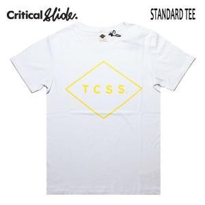 TCSS,ティーシーエスエス,Critical Slide/19SU/半袖Tシャツ/STANDARD TEE・TE18171/WHITExYELLOW・ホワイト×イエロー/ユニセックス/ダイヤロゴ/シンプル|selfishsurf