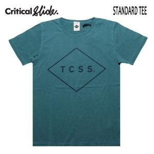 TCSS,ティーシーエスエス,Critical Slide/19SU/ S/S TEE,半袖Tシャツ/STANDARD TEE・TE18171/DEEP JUNGLE ・グリーン/ユニセックス/メンズ/ダイヤロゴ/シンプル|selfishsurf