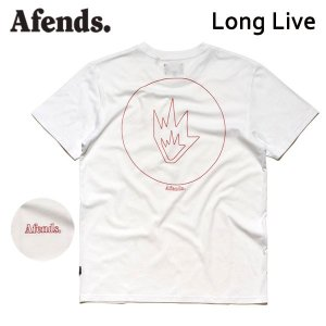 AFENDS,アフェンズ/2017年SUMMER/S/S Tシャツ・半袖Tシャツ/LONG LIVE・01-01-297/WHITE・ホワイト/M・Lサイズ/スタンダードフィット/ASIAN FIT|selfishsurf