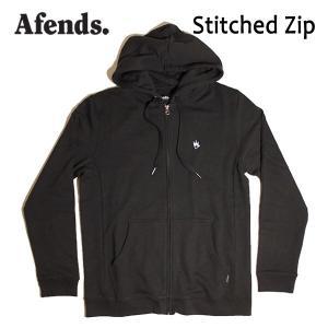 AFENDS,アフェンズ/17FA/ ジップアップパーカー/Stitched Zip・11-05-027-L/BLACK・ブラック/M・Lサイズ|selfishsurf