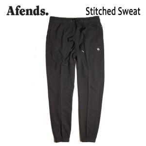 AFENDS,アフェンズ/17FA/スエットパンツ/Stitched Sweat・12-05-027-L/BLACK・ブラック/M・Lサイズ|selfishsurf