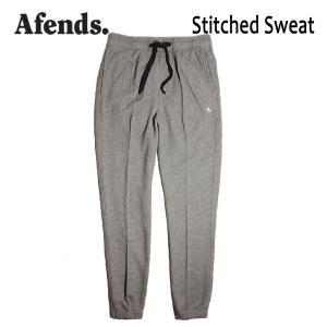 AFENDS,アフェンズ/17FA/スエットパンツ/Stitched Sweat・12-05-027-L/BLACK MARLE・ヘザーグレー/M・Lサイズ|selfishsurf