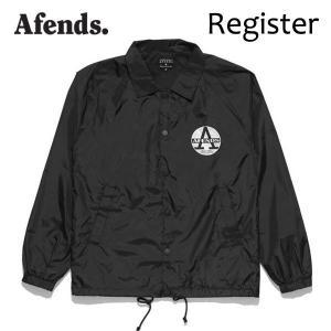 AFENDS,アフェンズ/17FA/コーチジャケット、ナイロンジャケット/Register・07-01-061/BLACK・ブラック/M・Lサイズ|selfishsurf