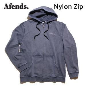 AFENDS,アフェンズ/17HO/ ジップアップパーカー/Nylon Zip・17D11-01/INDIGO ACID・インディゴアシッド/Mサイズ/メンズ|selfishsurf
