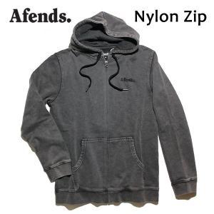 AFENDS,アフェンズ/17HO/ ジップアップパーカー/Nylon Zip・17D11-01/BLACK ACID・ブラックアシッド/Mサイズ/メンズ|selfishsurf