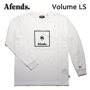 AFENDS,アフェンズ/17HO/ L/S Tシャツ・長袖Tシャツ/Volume LS TEE・17D2-03/WHITE・ホワイト/M・Lサイズ/メンズ|selfishsurf