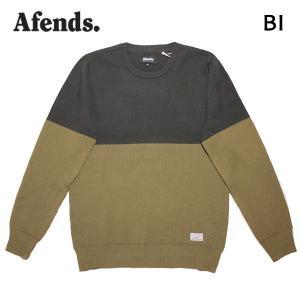 AFENDS,アフェンズ/17HO/ニット/BI・17D12-02/CHARCOAL/KHAKI・チャコール×カーキ/Mサイズ/メンズ|selfishsurf