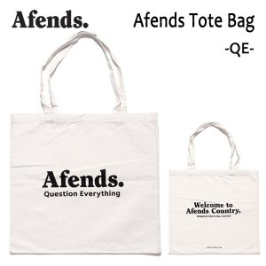 AFENDS,アフェンズ/TOTE BAG・トートバッグ/AFENDS TOTE BAG・17D15-11/QE/NATURAL・ナチュラル/47cm×49cm/キャンバス|selfishsurf