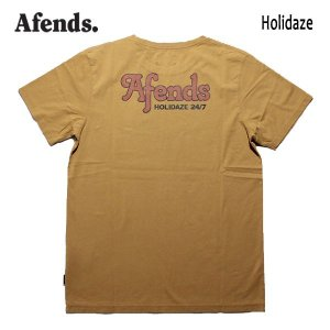 AFENDS,アフェンズ/19SP/ S/S Tシャツ・半袖Tシャツ/HOLIDAZE S/S TEE・JM191003/HONEY・マスタード/メンズ/バイロンベイ/ストリート/スタンダードフィット|selfishsurf