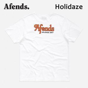 AFENDS,アフェンズ/19SP/ S/S Tシャツ・半袖Tシャツ/HOLIDAZE S/S TEE・JM191003/WHITE・ホワイト/メンズ/バイロンベイ/ストリート/スタンダードフィット|selfishsurf