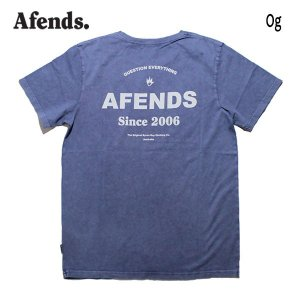 AFENDS,アフェンズ/19SP/半袖Tシャツ/Og・JM191004-1/NAVY ACID・ネイビーアシッド/スタンダードフィット/メンズ/ロゴ/クラックプリント|selfishsurf