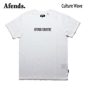 AFENDS,アフェンズ/19SP/半袖Tシャツ/CULTURE WAVE S/S TEE・JM191007/WHITE・ホワイト/ロゴ/メンズ/バイロンベイ/ストリート/スタンダードフィット|selfishsurf