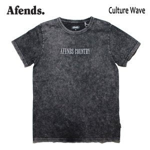 AFENDS,アフェンズ/19SP/半袖Tシャツ/CULTURE WAVE S/S TEE・JM191007-01/BLACK ACID・ブラックアシッド/ロゴ/メンズ/バイロンベイ/スタンダードフィット|selfishsurf