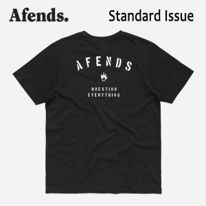 AFENDS,アフェンズ/19SP/半袖Tシャツ/STANDARD ISSUE S/S TEE・JM191009/BLACK・ブラック/ロゴ/メンズ/バイロンベイ/ストリート/スタンダードフィット|selfishsurf