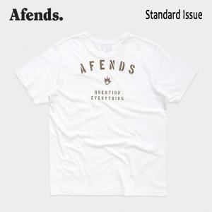 AFENDS,アフェンズ/19SP/半袖Tシャツ/STANDARD ISSUE S/S TEE・JM191009/WHITE・ホワイト/ロゴ/メンズ/バイロンベイ/ストリート/スタンダードフィット|selfishsurf