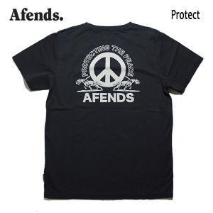 AFENDS,アフェンズ/19SP/半袖Tシャツ/PROTECT S/S TEE・JM191011/BLACK・ブラック/ロゴ/メンズ/バイロンベイ/ストリート/スタンダードフィット|selfishsurf
