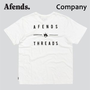 AFENDS,アフェンズ/19SP/半袖Tシャツ/COMPANY S/S TEE・JM191051/WHITE・ホワイト/ロゴ/メンズ/バイロンベイ/ストリート/スタンダードフィット|selfishsurf