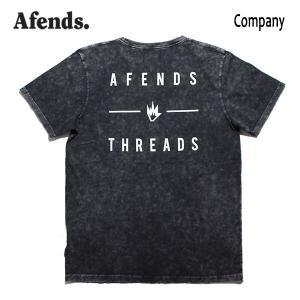 AFENDS,アフェンズ/19SP/半袖Tシャツ/COMPANY S/S TEE・JM191051-01/BLACK ACID・ブラックアシッド/ロゴ/メンズ/バイロンベイ/ストリート/スタンダードフィット|selfishsurf