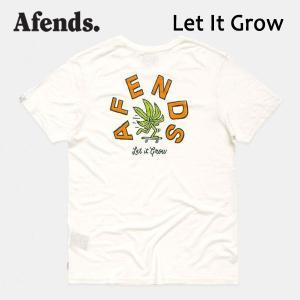 AFENDS,アフェンズ/19SP/半袖Tシャツ/LET IT GROW・M191018/WHITE・ホワイト/Mサイズ/HEMP・ヘンプコレクション/麻/バイロン/スタンダードフィット|selfishsurf