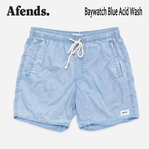 AFENDS,アフェンズ/19SP/水陸両用・ベイウォッチ・ショーツ・サーフトランクス/BAYWATCH・09-04-082-191/BLUE ACID・ブルーアシッド/メンズ/無地/サーフ|selfishsurf