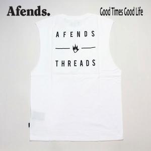 AFENDS,アフェンズ/19SP/タンクトップ・バンドカットTシャツ/COMPANY・JM191091/WHITE・ホワイト/ユニセックス/ロゴ/シンプル|selfishsurf