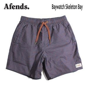 AFENDS,アフェンズ/19SP/水陸両用・ベイウォッチ・ショーツ・サーフトランクス/BAYWATCH SKELETON BAY/NAVY・ネイビー/メンズ/サーフ|selfishsurf