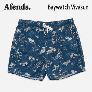 AFENDS,アフェンズ/19SP/水陸両用・ベイウォッチ・ショーツ・サーフトランクス/BAYWATCH VIVASUN・M191353/INDIGO/ブルー/メンズ/サーフ/ハイブリッド/花柄|selfishsurf