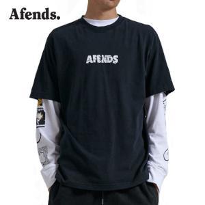 AFENDS,アフェンズ/21SU/半袖Tシャツ/Noise S/S TEE・M213013/FADED BLACK・ウォッシュブラック/ロゴ/メンズ/バイロンベイ/ストリート|selfishsurf
