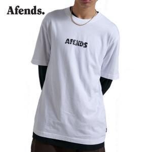 AFENDS,アフェンズ/21SU/半袖Tシャツ/Noise S/S TEE・M213013/WHITE・ホワイト/ロゴ/メンズ/バイロンベイ/ストリート|selfishsurf