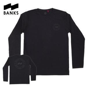 BANKS,バンクス/2014年FALL/L/S Tシャツ・長袖Tシャツ/BANKS BRAND L/S TEESHIRT・ALTS0001/DIRTY BLACK・ブラック/M・Lサイズ|selfishsurf